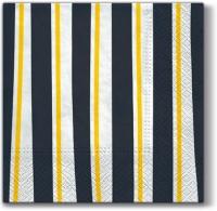 Servilletas Lunch Striped Illusion (grey)