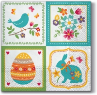 Lunch napkins Easter Collage
