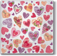 Lunch napkins Romantic Hearts