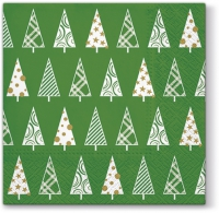 Serviettes lunch Triangle Trees (green)