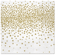 Lunch napkins Confetti (gold)
