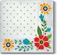 Lunch napkins Flowers
