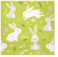 Lunch napkins Games of rabbits