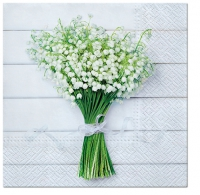 Napkins 33x33 cm - White Bouquet