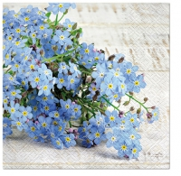 Napkins 33x33 cm - forget-me-not