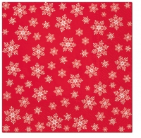 Napkins 33x33 cm - Stars Everywhere (red)
