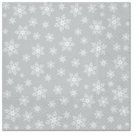 Napkins 33x33 cm - Stars Everywhere (silver)