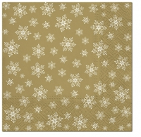 Napkins 33x33 cm - Stars Everywhere (gold)