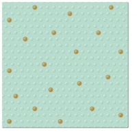 Serviettes de table 33x33 cm - Inspiration Dots Spots Spots menthe-or