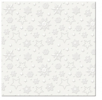 Serviettes lunch Winter Flakes (pearl)