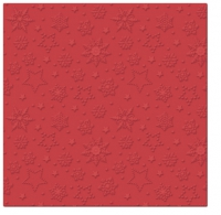 Serviettes lunch Winter Flakes (red)
