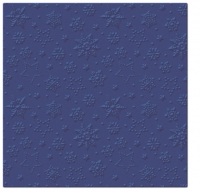 Lunch napkins Inspiration Winter Flakes (navy blue)