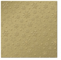 Napkins 33x33 cm - Inspiration Winter Flakes (gold)