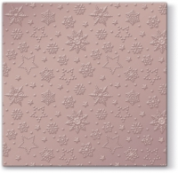 Serviettes lunch Winter Flakes (pink metallic)
