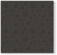 Lunch Tovaglioli Inspiration Winter Flakes (black)