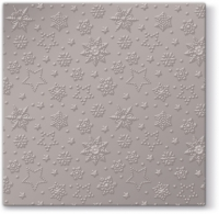 Lunch Tovaglioli Inspiration Winter Flakes (warm grey metallic)