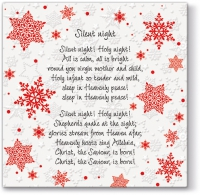 Serviettes lunch Inspiration Winter Flakes English Carols