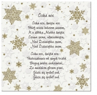 Serviettes lunch Inspiration Winter Flakes Polish Carols