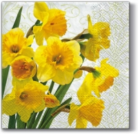 Lunch napkins YELLOW DAFFODILS