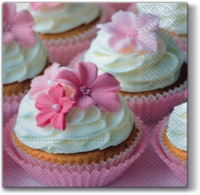 Serviettes de table 33x33 cm - Charmant muffin