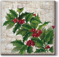 Lunch napkins Sprig of Holly