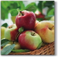 Servietten 33x33 cm - Sonnige Äpfel