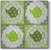 Lunch napkins Tasty Tea green