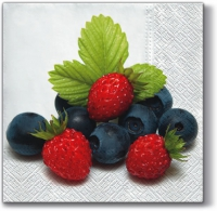 Serviettes de table 33x33 cm - Fruits frais