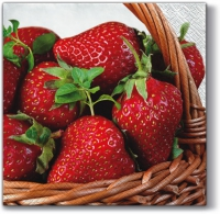 Napkins 33x33 cm - Strawberry Basket