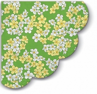 serviettes - round Floral Carpet green R