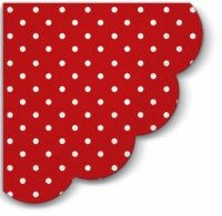 Napkins - round Dots red
