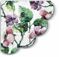 Servietten - Rund Pink Wild Roses