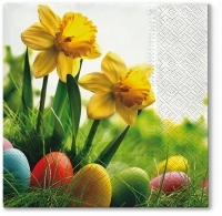 Lunch napkins Daffodils with Eggs