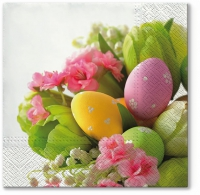 Lunch napkins Bouquet with Eggs