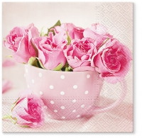 Lunch napkins Roses in a Cup