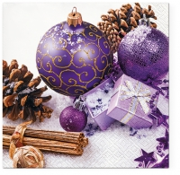 Servilletas Lunch Purple Baubles
