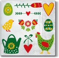 Lunch napkins Easter Symbols