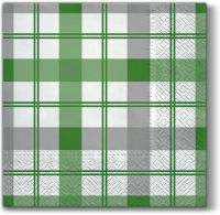 Lunch napkins Subtle Check (green)