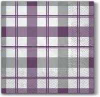 Lunch napkins Subtle Check (violet)