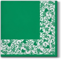 Lunch napkins Chic Frame (green)
