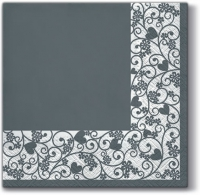 Lunch napkins Chic Frame (grey)