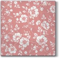 Lunch napkins Ornament Bushes (dark rosa)