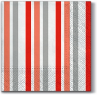 Lunch napkins Only Stripes (red)