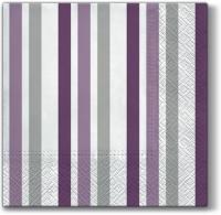 Lunch napkins Only Stripes (violet)