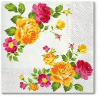Lunch napkins Roses Composition