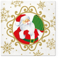 Napkins 33x33 cm - Serwetki Hello Santa