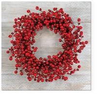 Servilletas Lunch Serwetki Red Wreath