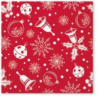 Serwetki 33x33 cm - Serwetki Czas świąt Bożego Narodzenia czerwony