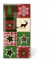 pañuelos de papel Xmas patchwork