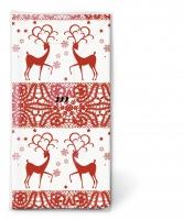 Taschentücher Two deers red
